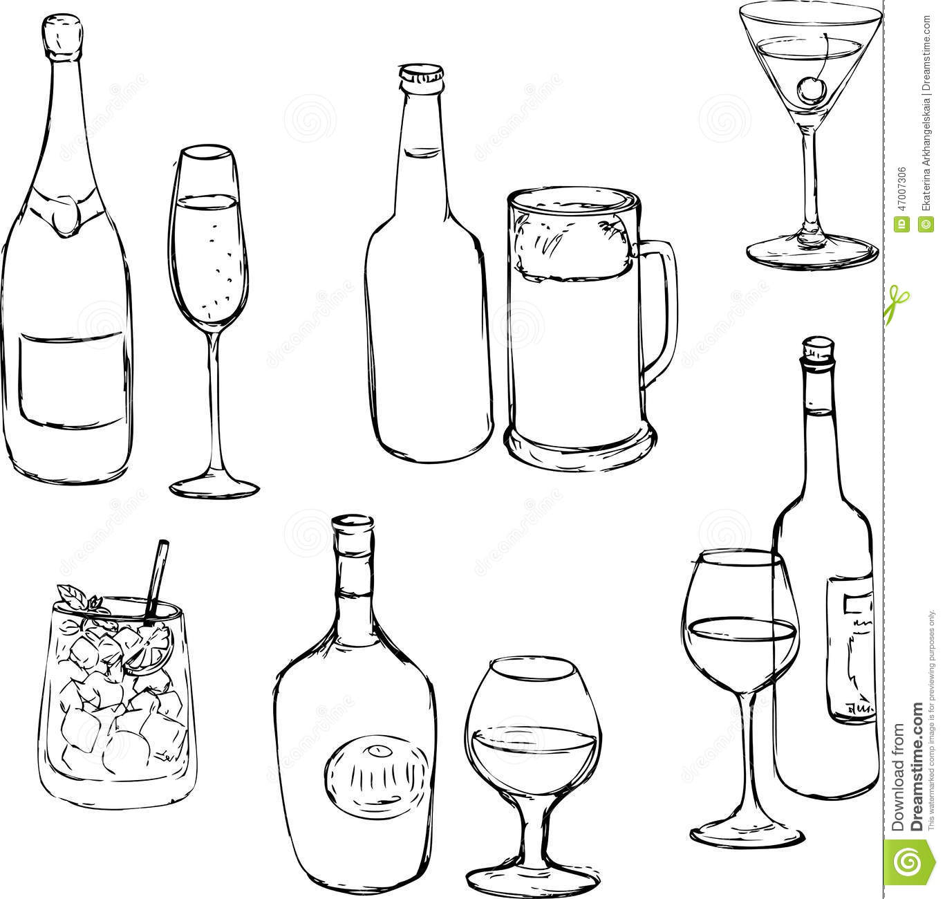 Related Keywords Amp Suggestions For Alcohol Drawing