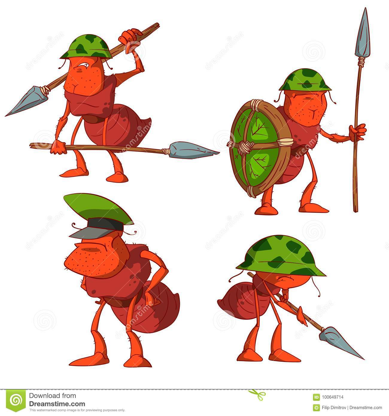 Set Of Ant Sol Rs Stock Vector Illustration Of Guards