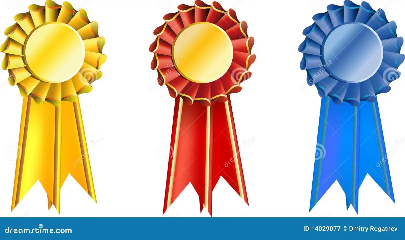Set Award Ribbons Stock Vector Illustration Of Decoration