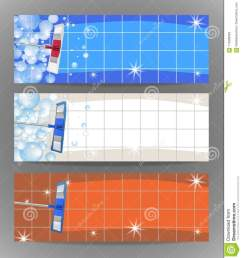 set banners mop cleaning clean tile floor shiny vector [ 1197 x 1300 Pixel ]