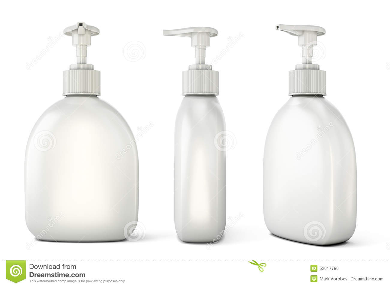 set of bottles with