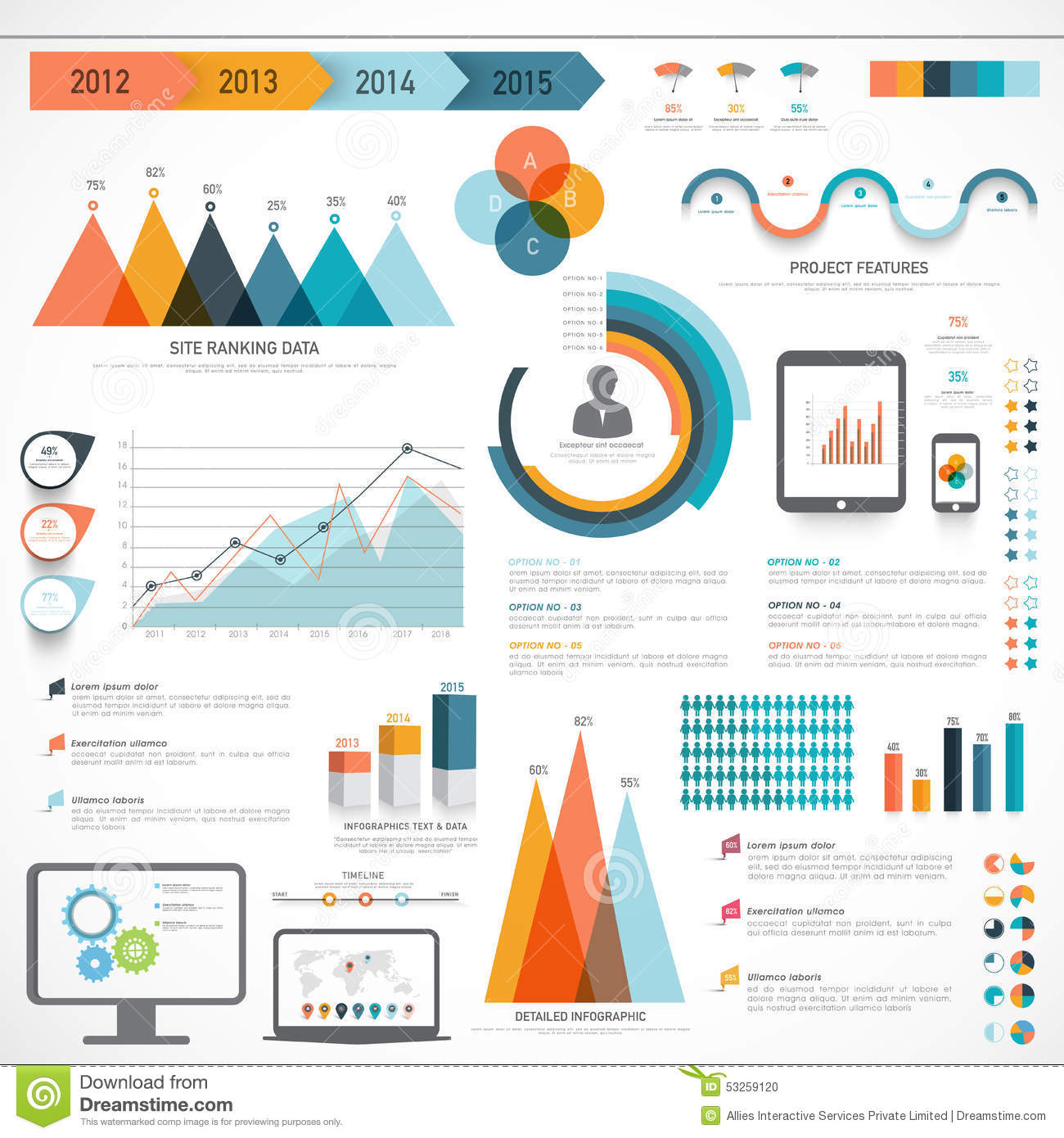 statistical analysis graphs and diagrams standard stratocaster wiring diagram set of business infographic elements stock illustration