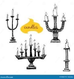 vector set of candlesticks cartoon vector [ 1300 x 1390 Pixel ]