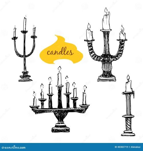 small resolution of vector set of candlesticks cartoon vector