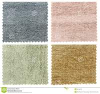 Set Of Carpet Swatch Texture Samples Royalty Free Stock ...