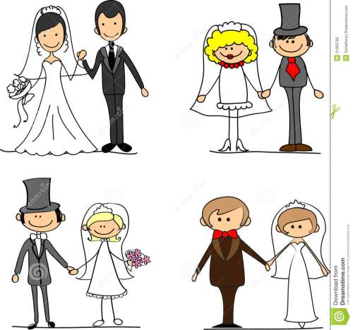 small resolution of set cartoon bride and groom vector illustration picture