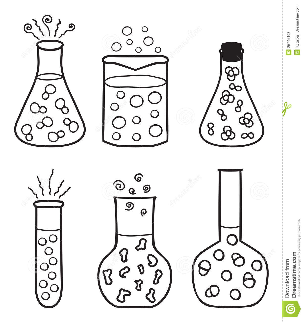 Set of chemical test tubes stock vector. Illustration of