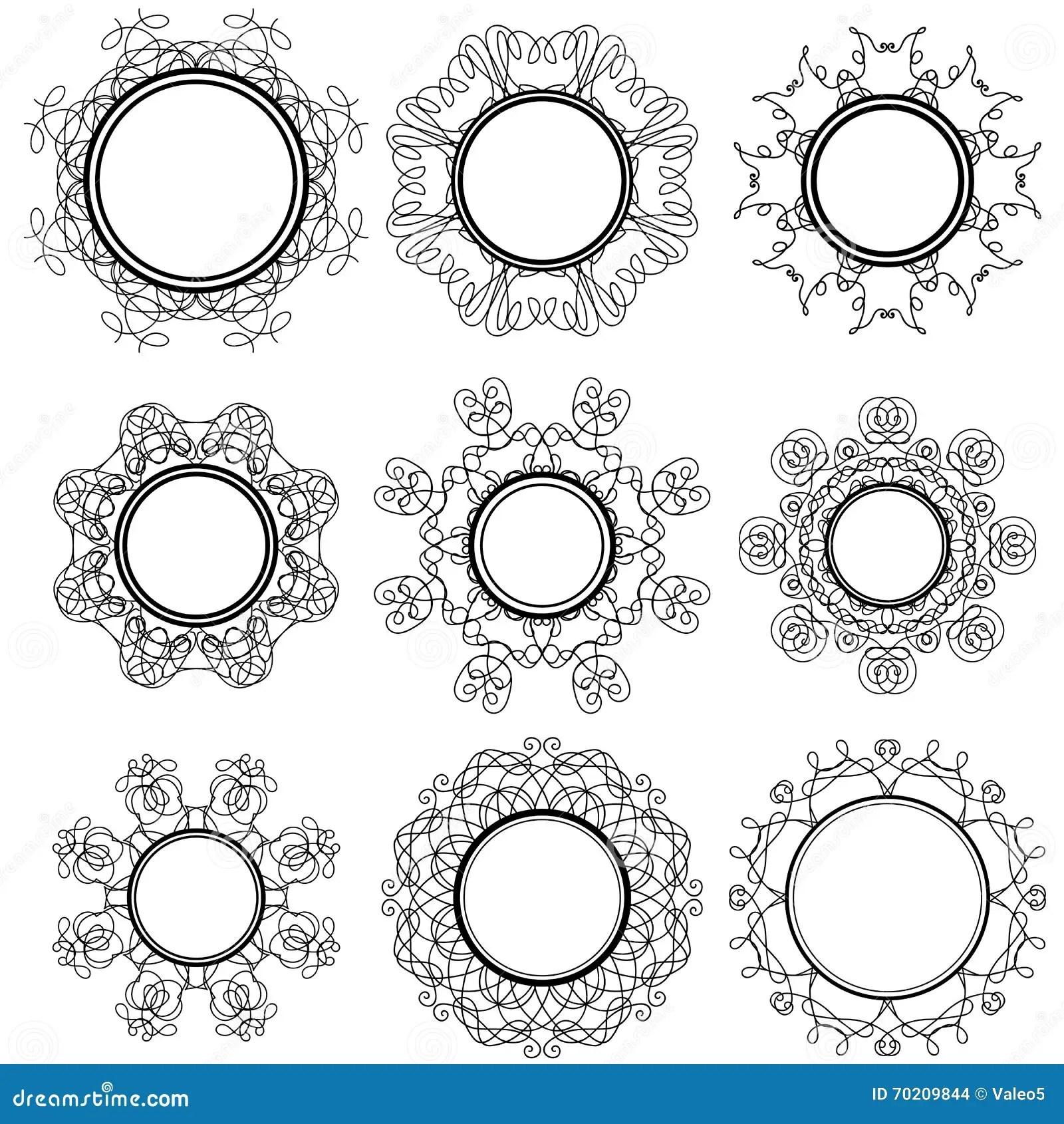 Set Of Circle Geometric Ornaments Stock Vector
