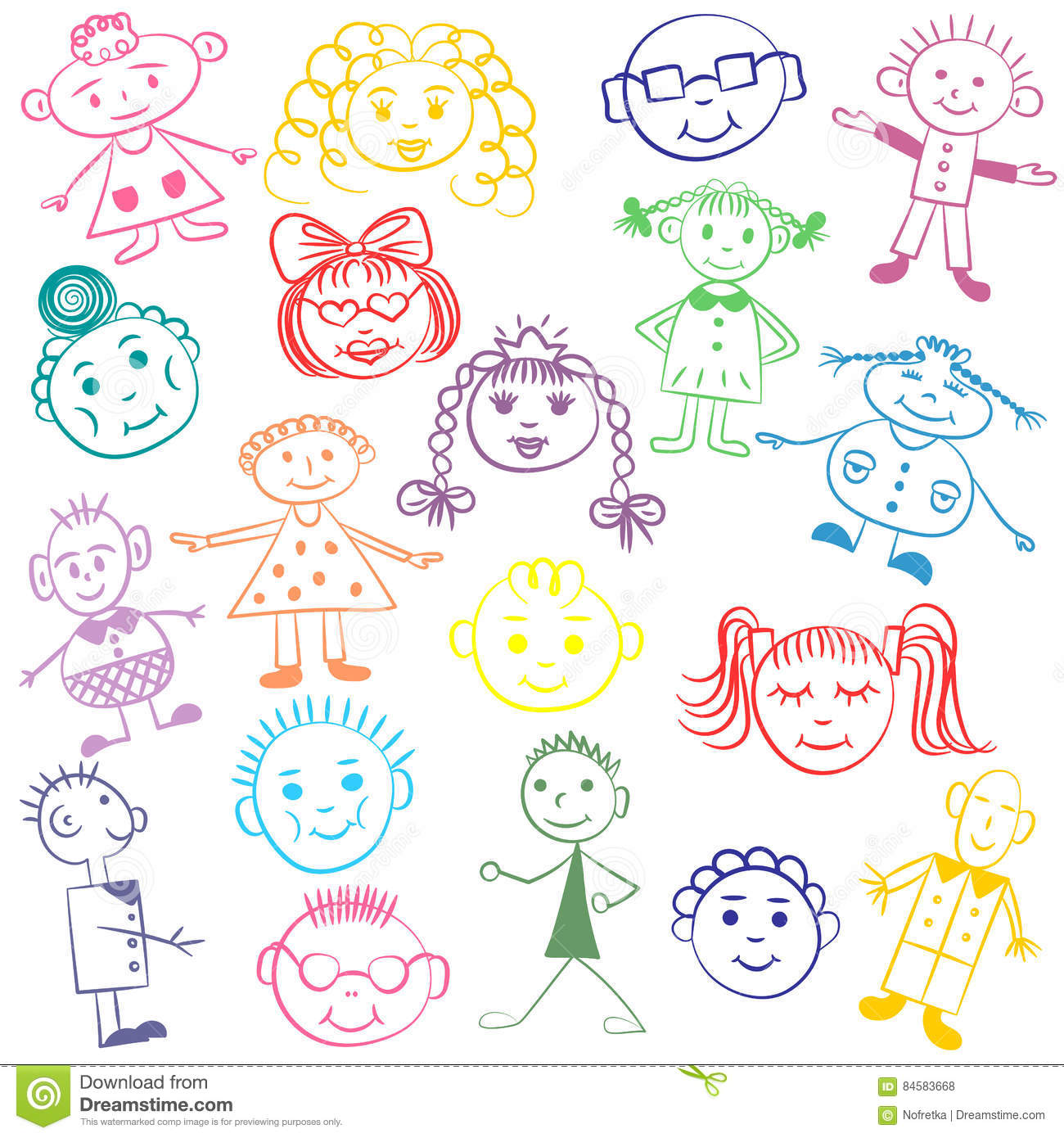 Colorful Cute Drawings For Kids