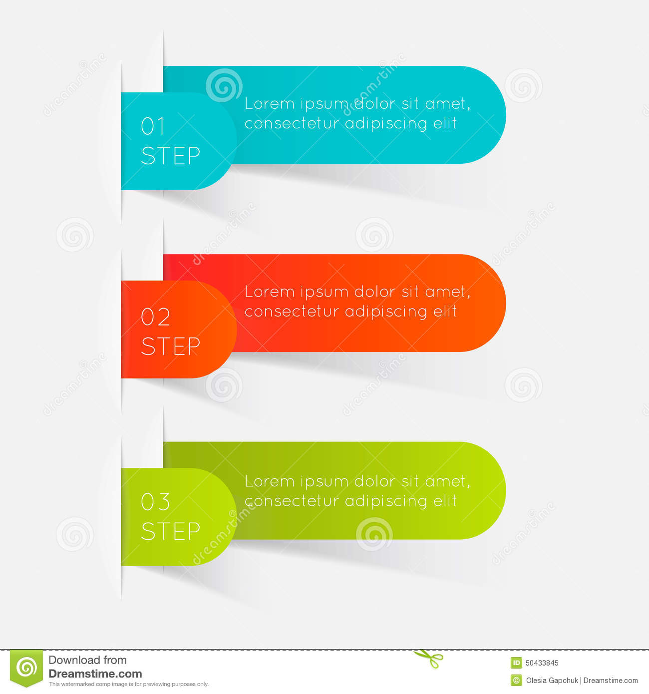 hight resolution of set of colorful text box with steps trendy colors vector illustration can be used for workflow layout diagram number options web design