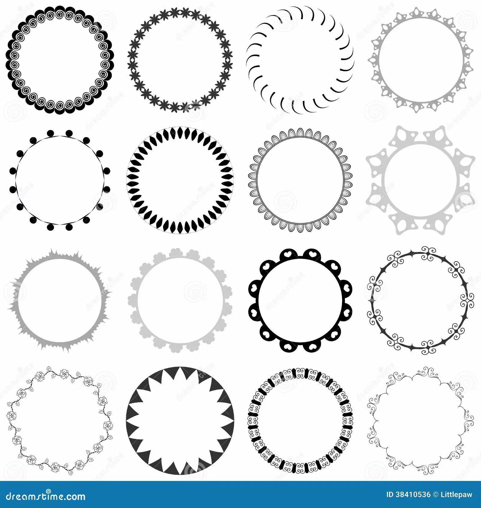 Set Of Decorative Round Frames Stock Vector  Illustration