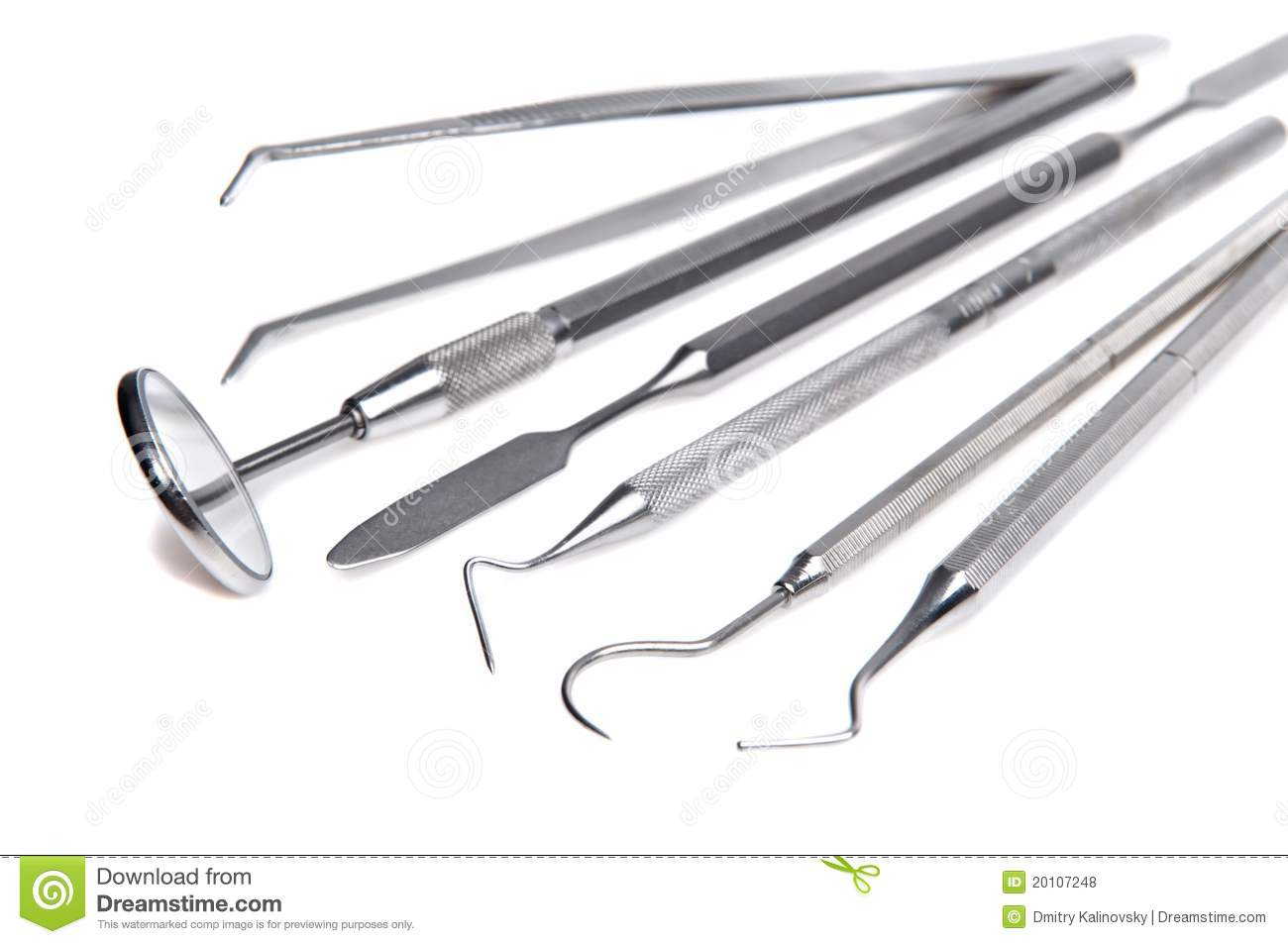 Set Of Dental Care Instruments Royalty Free Stock Photos