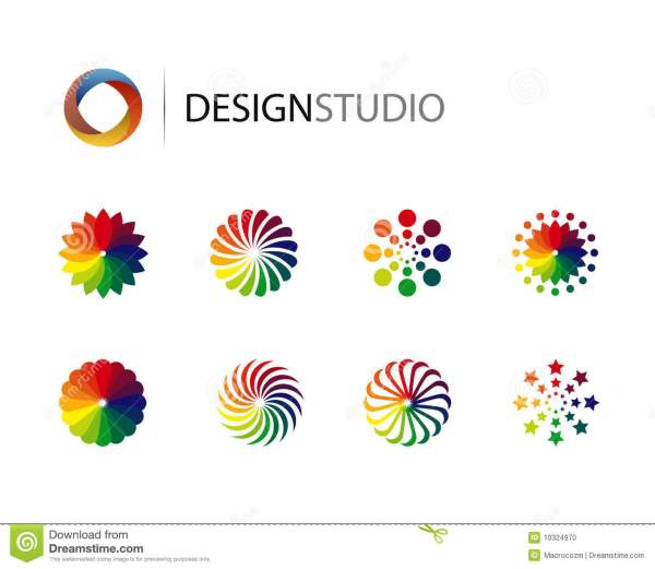Set Of Design Graphic Logo Elements Stock Vector