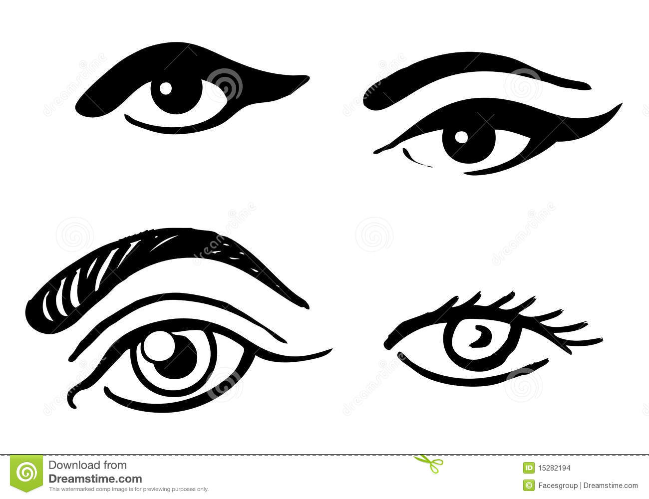 Set Of Different Eyes Stock Images