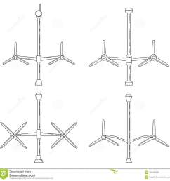 download set of different tidal power station rotters stock vector illustration of flat  [ 1300 x 1326 Pixel ]