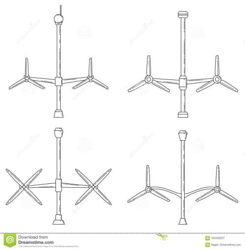 small resolution of download set of different tidal power station rotters stock vector illustration of flat