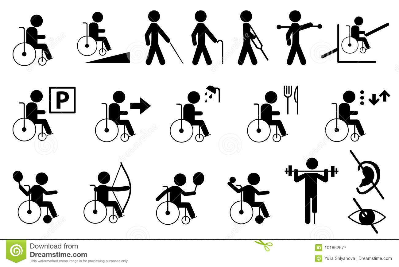 Stick Figure With Injury And Medical Help Cartoon Vector