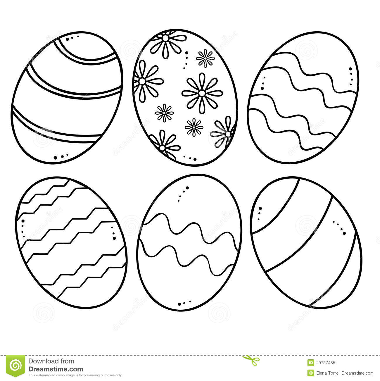 Easter Eggs Vector Royalty Free Stock Photo
