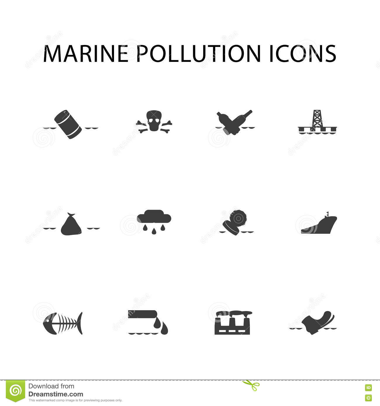 Set Of Ecology Icons Elements Stock Vector
