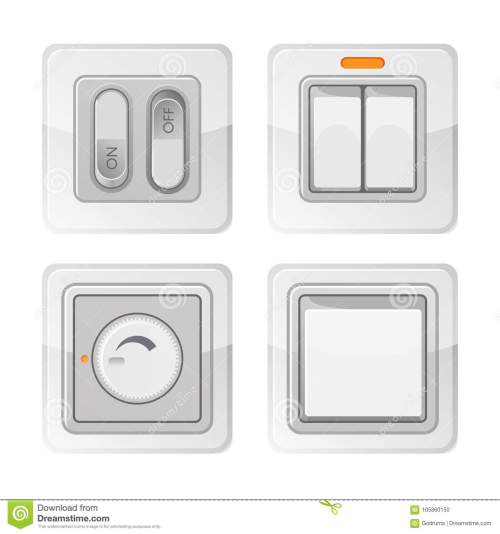 small resolution of set of electric power switches with on off buttons electrical wiring light switch used to operate lights permanently connected equipment