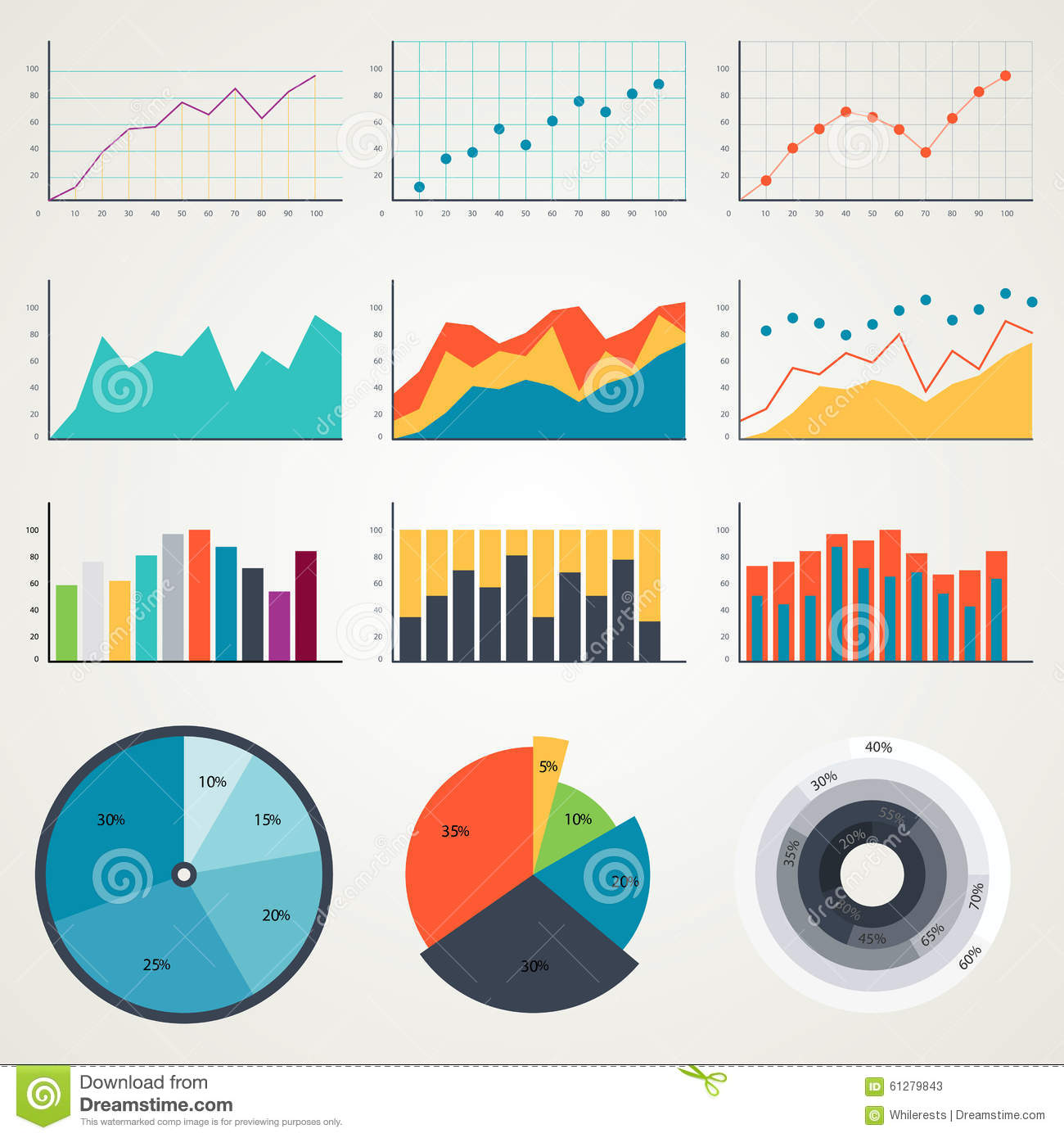 statistical analysis graphs and diagrams 3 wire pickup wiring diagram set of elements for infographics charts