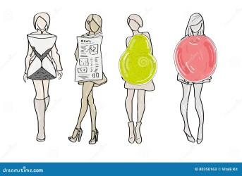 body form types female pear apple hourglass vrouwelijke vormt lichaamstypes reeks zich een rectangle triangle vector health silhouette