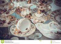 Royal Porcelain Dining Tableware Set Stock Photography ...