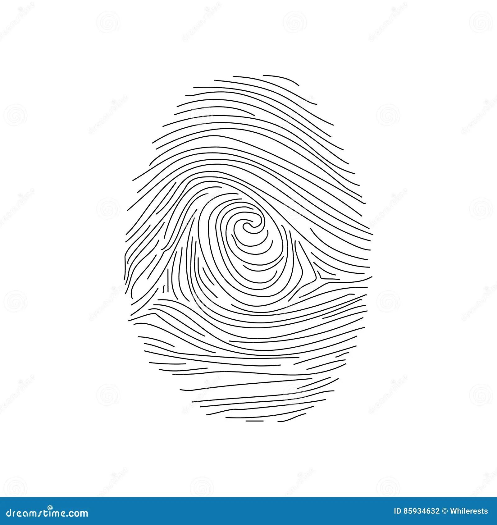 Set Of Fingerprints, Illustration Royalty-Free Cartoon