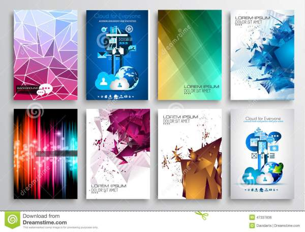 Set Of Flyer Design Web Templates. Brochure Stock