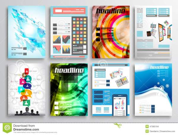Set Of Flyer Design Web Templates. Brochure