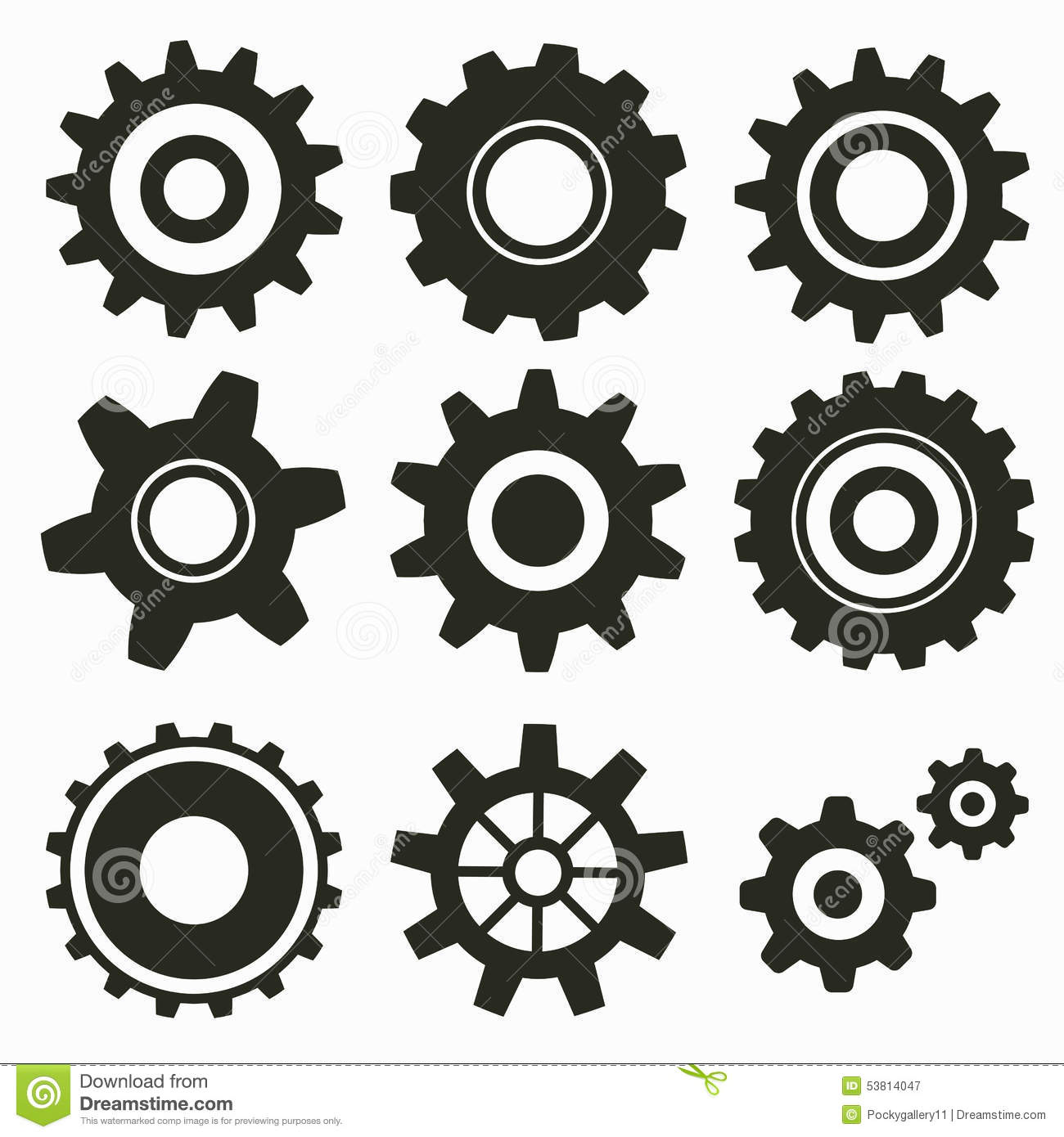 Set Of Gear Icon Stock Vector