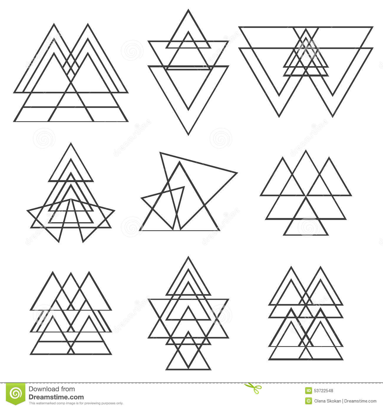 Set Of Geometric Shapes Trendy Logotypes Geometric Icons