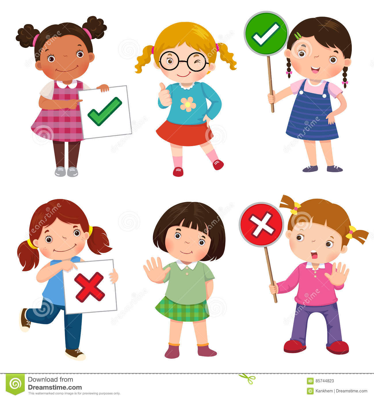 Girls Cartoons Illustrations Amp Vector Stock Images