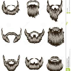 Beach Chair And Umbrella Clipart Covers Hire Newcastle Set Of Hand Drawn Beards Royalty Free Stock Photos - Image: 13116908