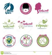 set of health and beauty badges
