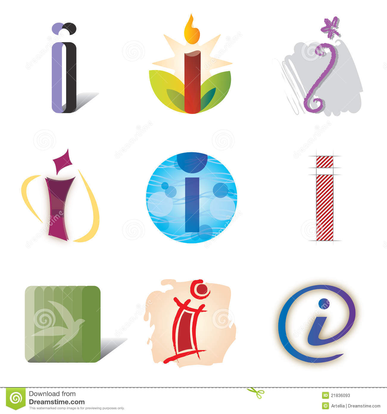 set of icons and