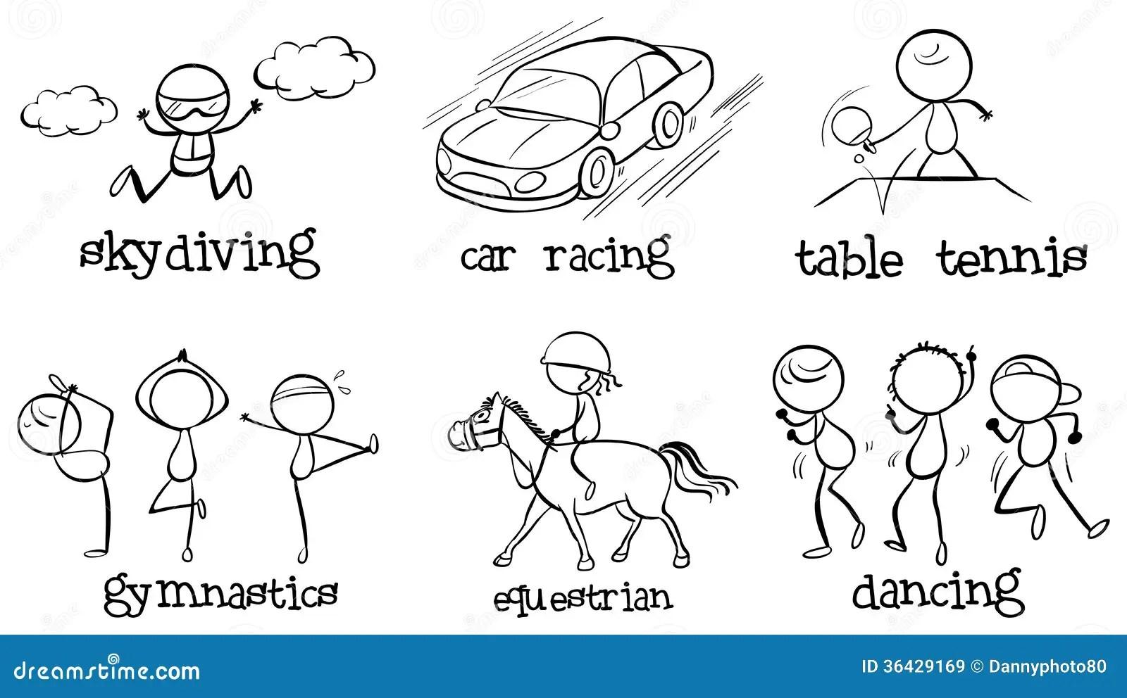Kids Outdoor Activities Set Cartoon Vector