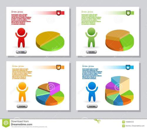 small resolution of set of infographics from stylized figure of man and of bulk isometric pie charts for