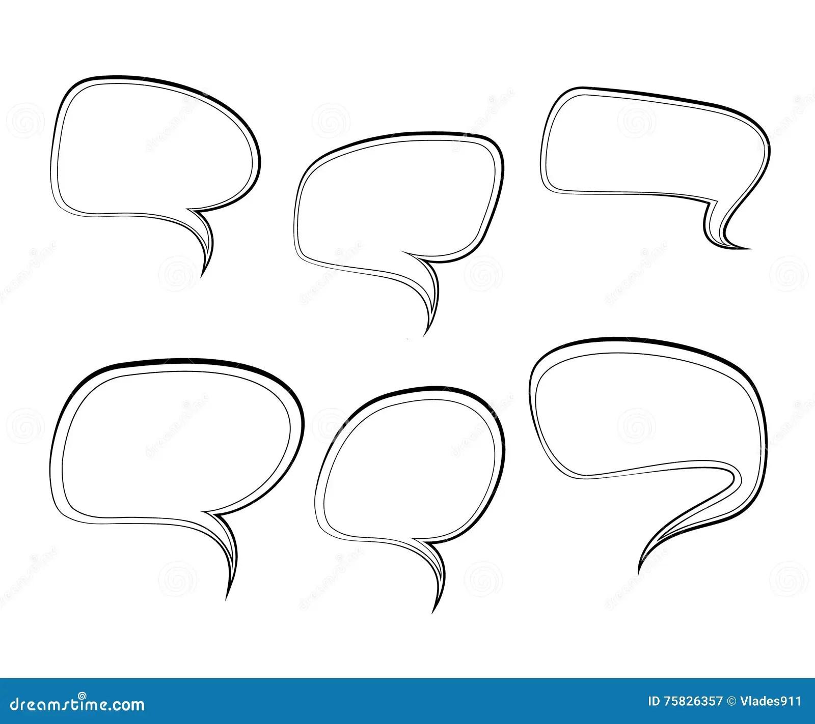 Speech Bubble On Phone Icon, Outline Style Cartoon Vector