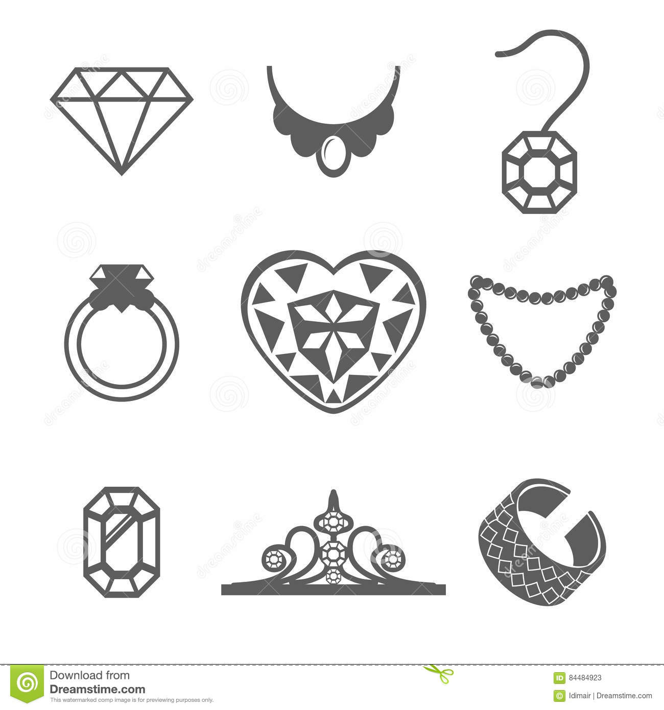Jewelry Ring Logo Jewelry Crown Logo Jewelry Flower And