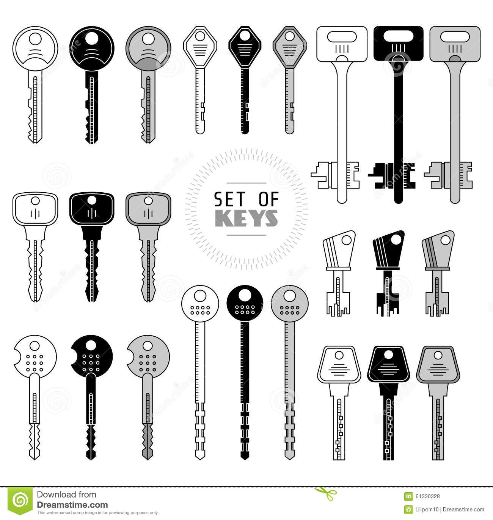 Set Of Keys Stock Vector Illustration Of Object House