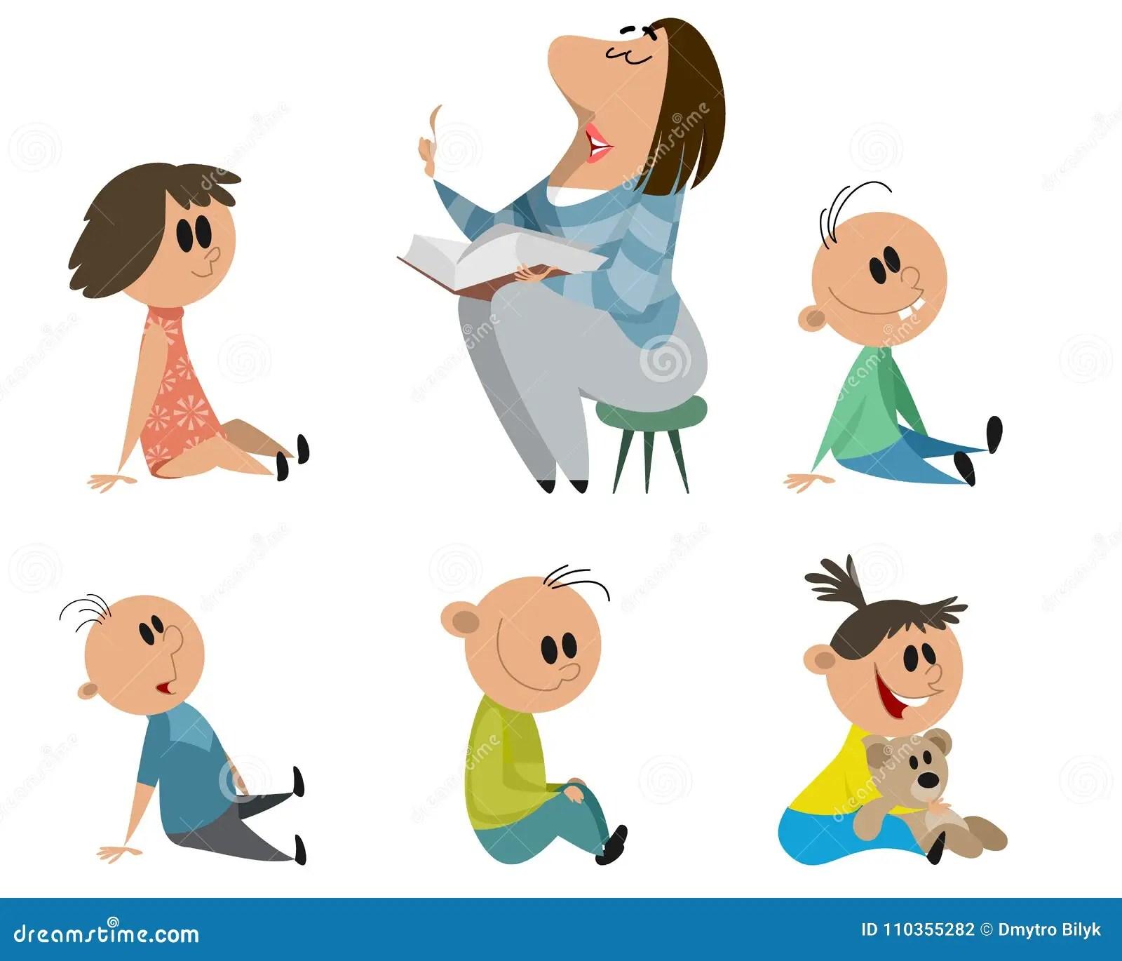 Set Of Kindergarten Characters Stock Vector