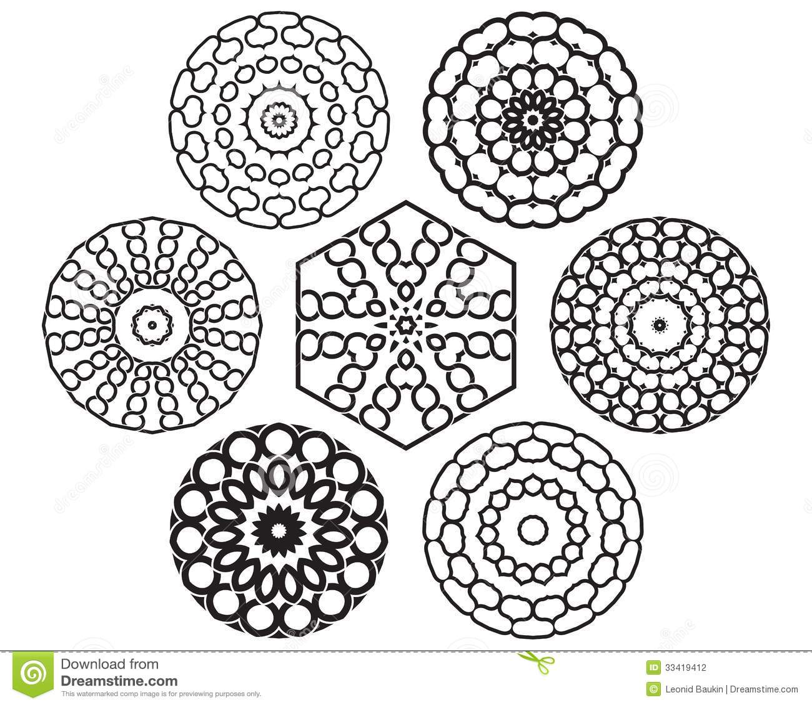 Set Of Knot Design Geometric Elements Stock Photography