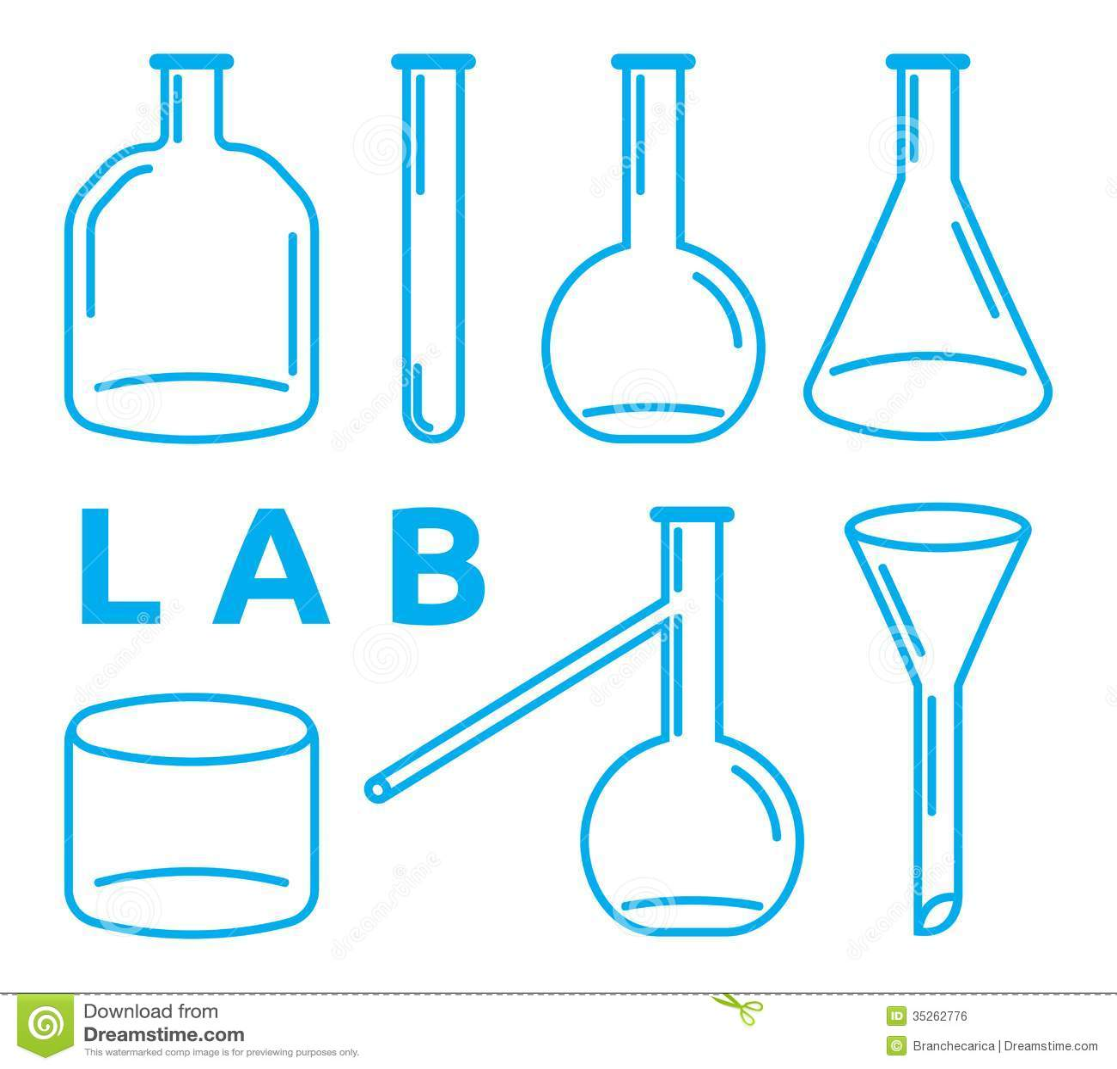 Set Of Laboratory Equipment Royalty Free Stock Image