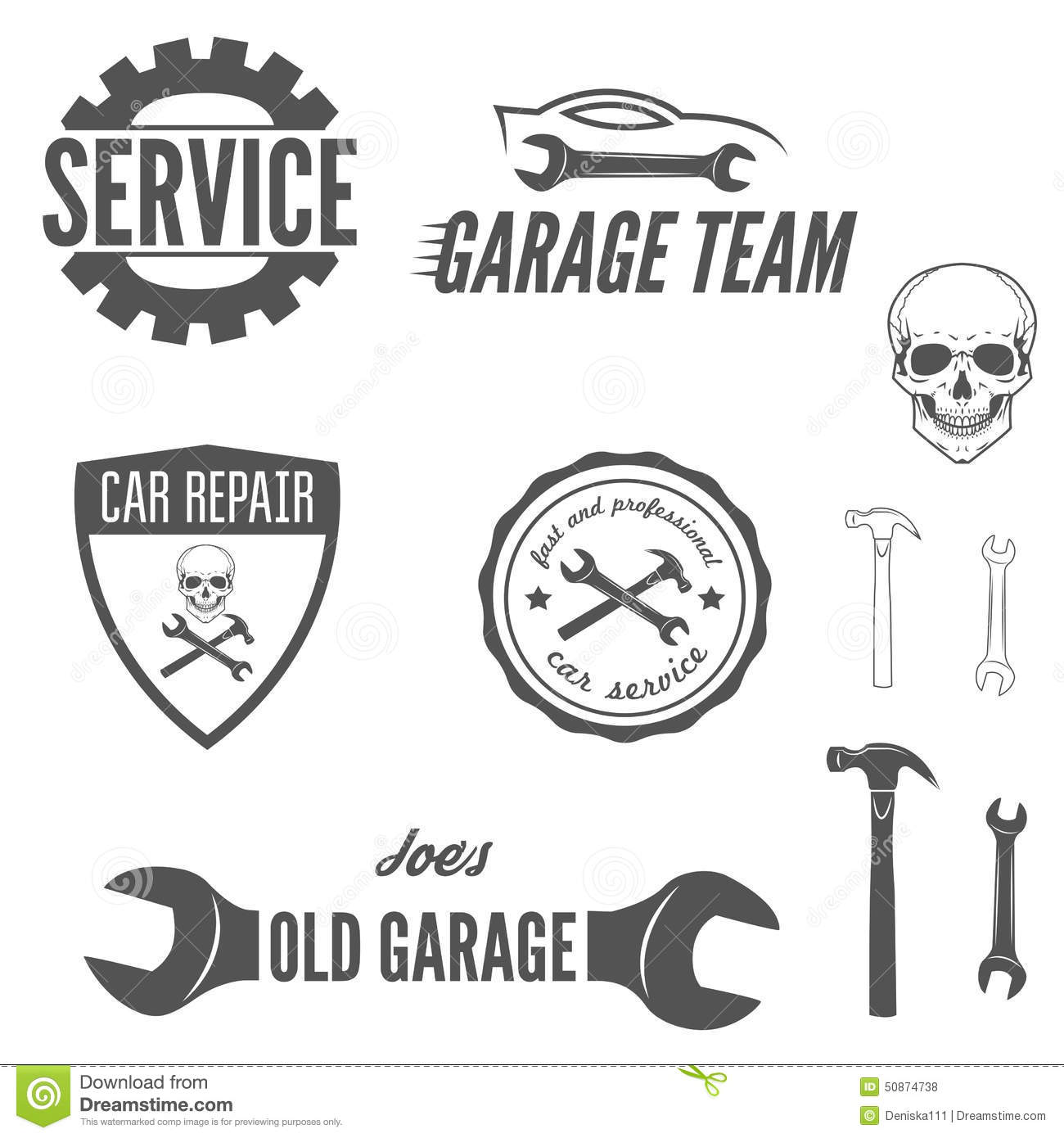 Set Of Logo Badge Emblem And Logotype Element Stock