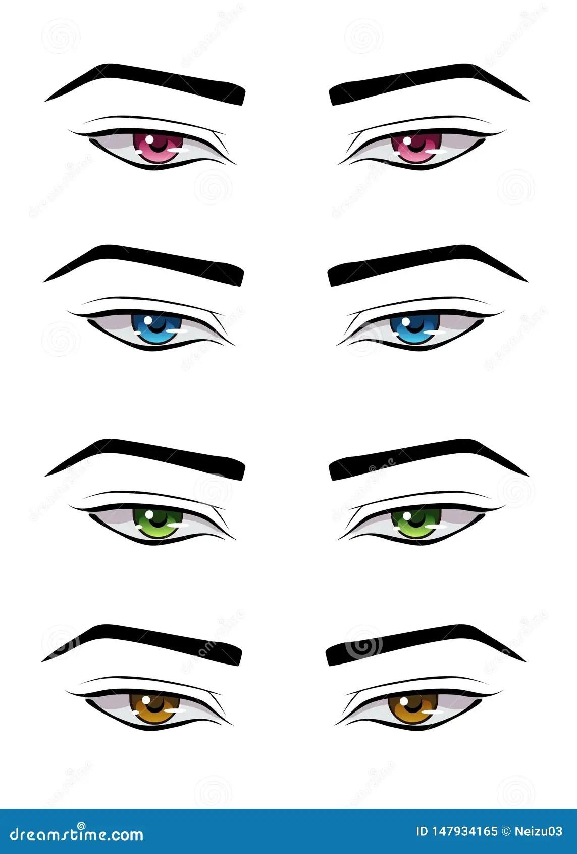 Male Anime Eyes : anime, Anime, Style, Stock, Illustration, Japanese,, Iris:, 147934165