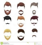young men with beards