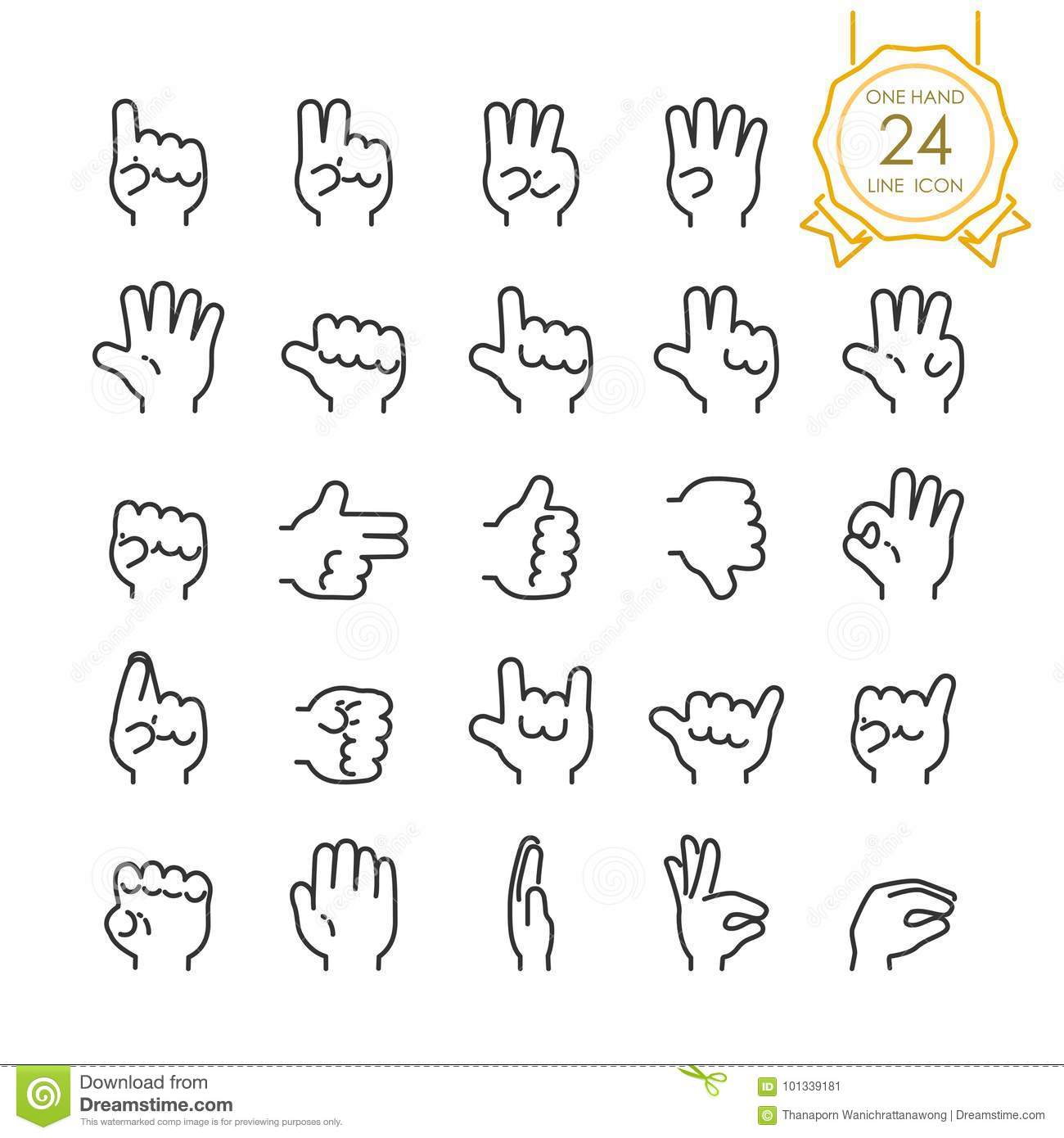 Five Rock Hands Abstract Symbol With Five Point Star