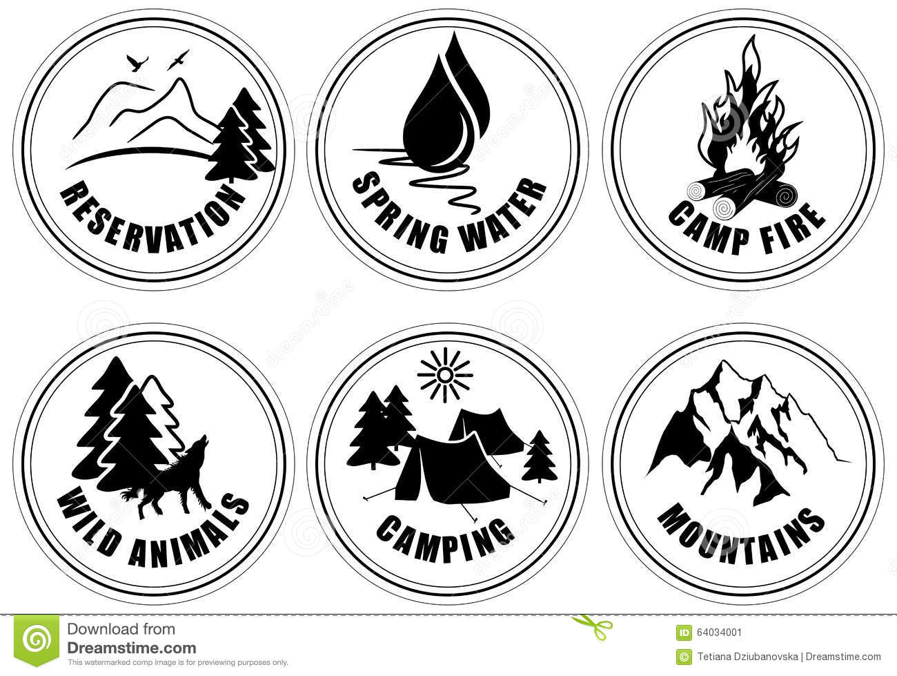 Set Of Outdoor Adventure And Expedition Logo Emblems