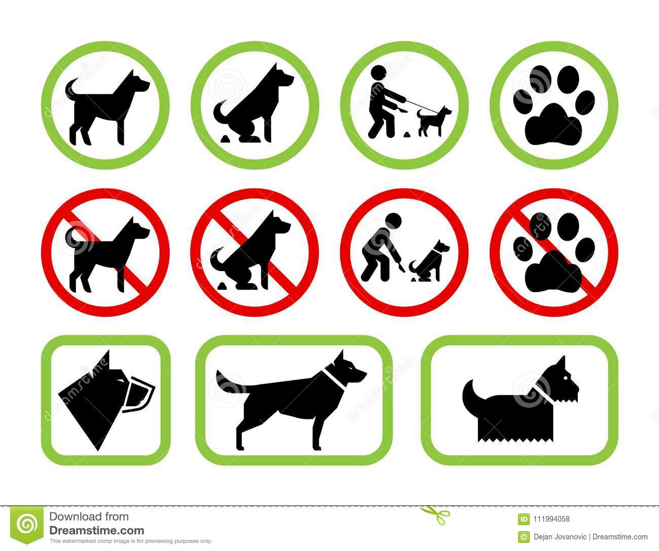 Signs Of Restriction And Permission Regarding Pet Dogs